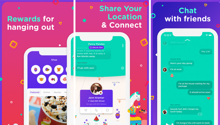 bthere Group Location Sharing App for iPhone