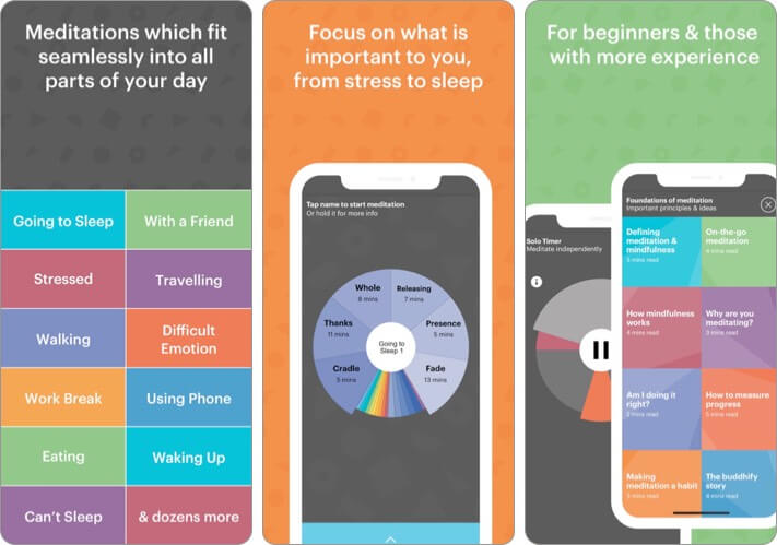 buddhify Meditation iPhone and iPad App Screenshot