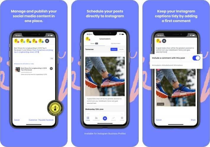 buffer social media manager iphone app screenshot