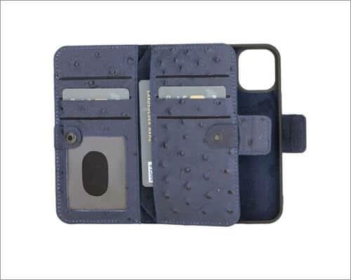 Burkley Windsor Bi-Fold Detachable Leather Case for iPhone 12 Mini