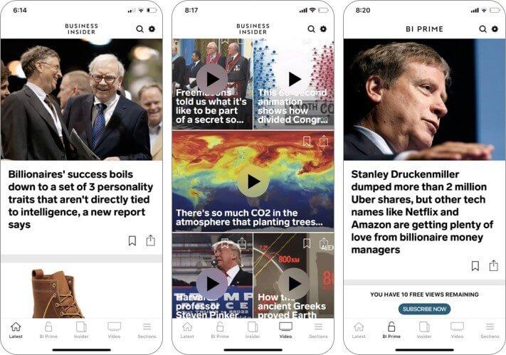 business insider iPhone and iPad App Screenshot
