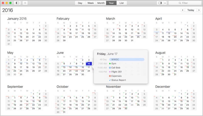 BusyCal best calendar app for Mac