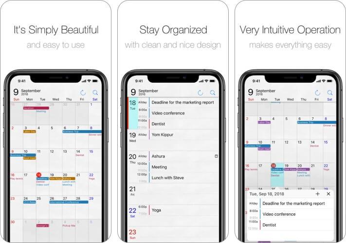 Calendar Op.2 iPhone and iPad App Screenshot