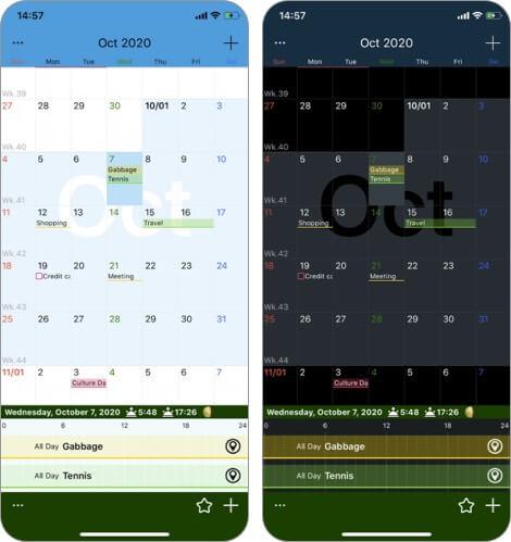 Calendar Z iPhone and iPad App Screenshot