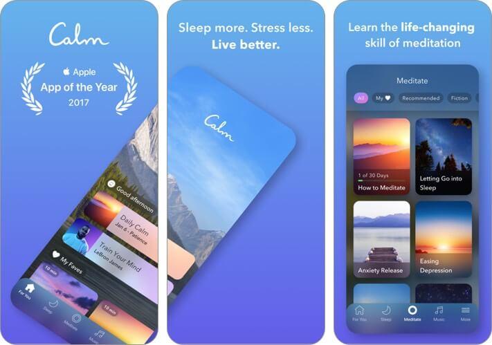 calm iphone app screenshot