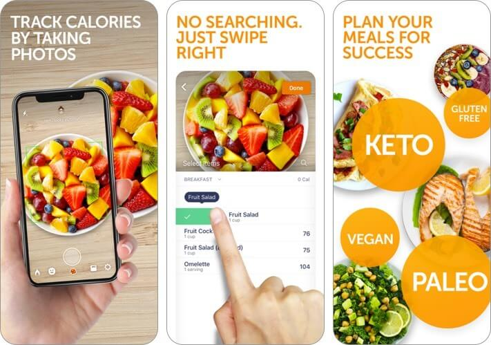 calorie mama ai: diet counter iphone and ipad app screenshot