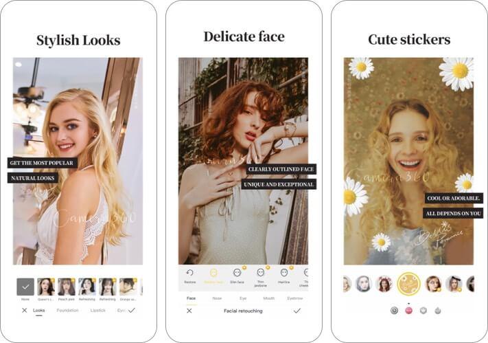 Camera 360 iPhone and iPad Selfie App Screenshot