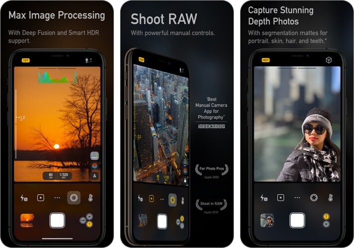 camera m iphone app screenshot