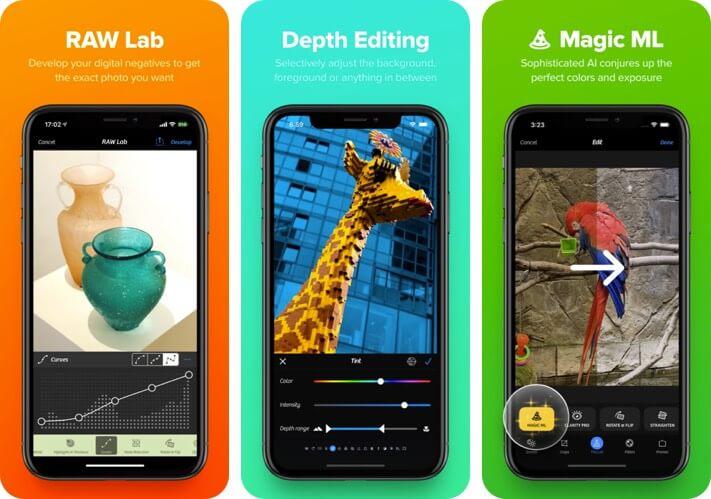 Camera+ 2 RAW Photo Editing iPhone and iPad App Screenshot