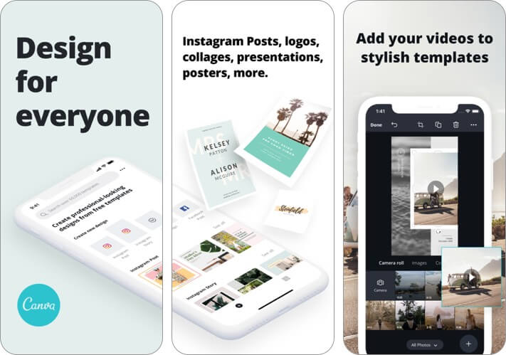 canva iphone and ipad presentation app screenshot