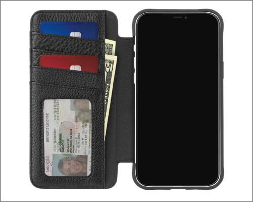Case-Mate Tough Leather Wallet for iPhone 12 and 12 Pro