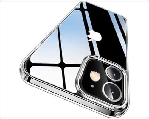 CASEKOO Crystal Clear Bumper Case for iPhone 12 and 12 Pro