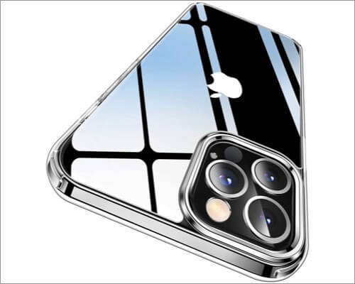 CASEKOO Rugged Clear Case for iPhone 12 Pro Max