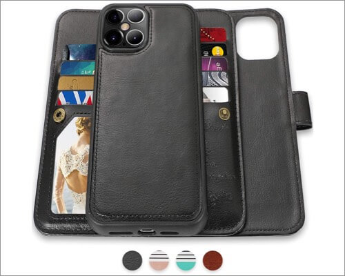 CASEOWL Detachable Slim Wallet Case for iPhone 12 Pro Max