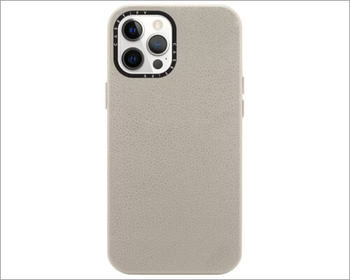 Casetify Monogram Leather Case for iPhone 12 Pro Max