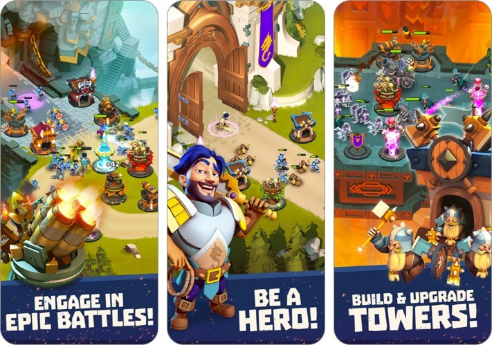 castle creeps iphone and ipad tower defense game screenshot