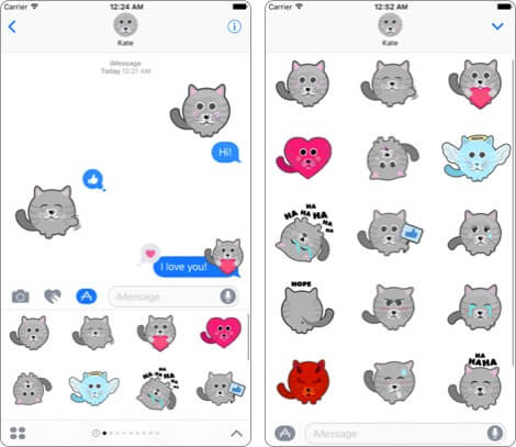 cat stickers for imessage iphone app