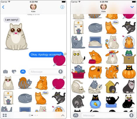 cat stickers pack imessage iphone apps