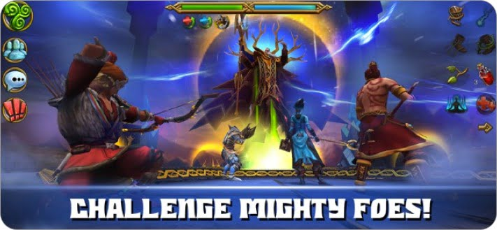 celtic heroes 3d mmo multiplayer role playing iphone and ipad game screenshot