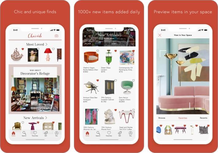 Chairish Furniture & Decor iPhone and iPad Interior Design App Screenshot