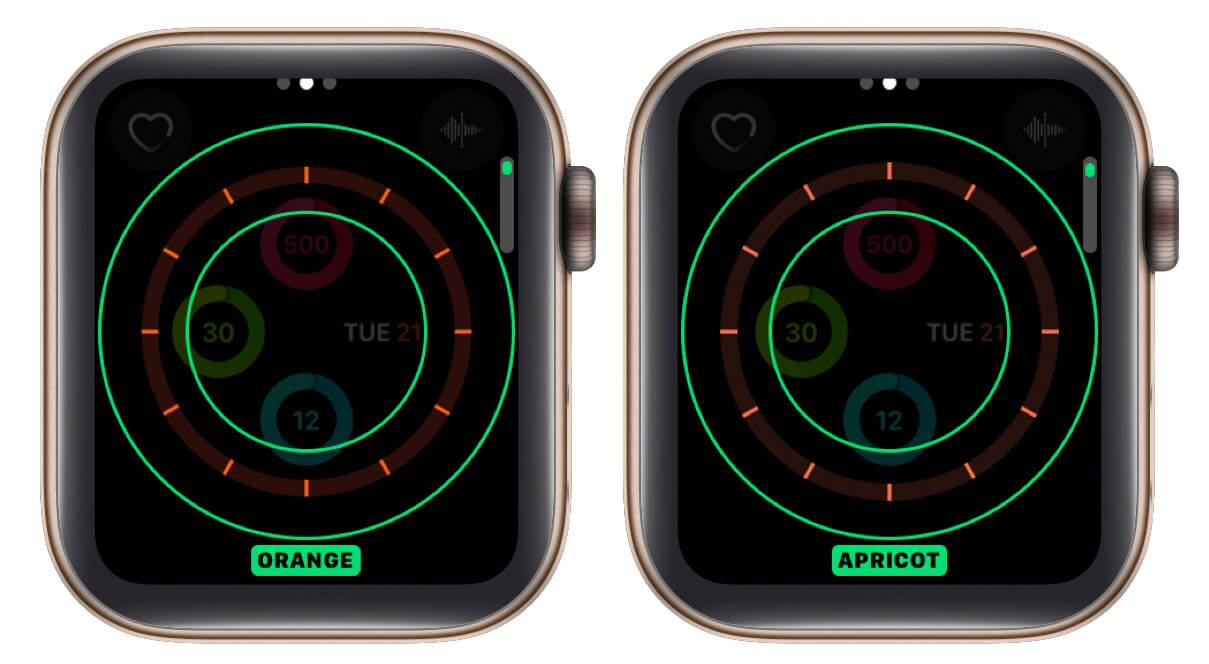 change color of watch face
