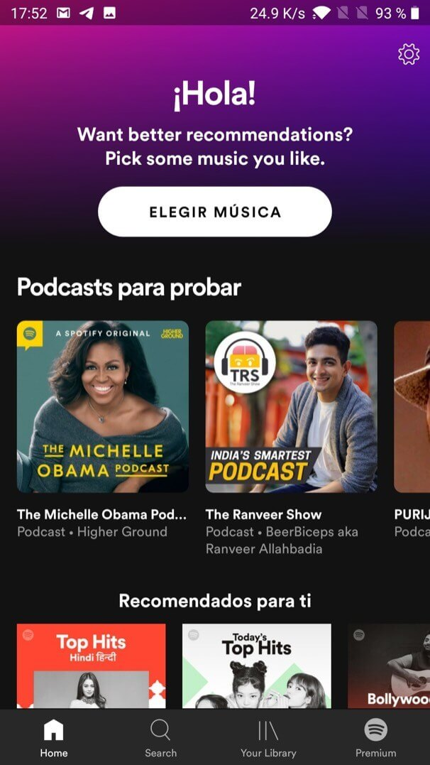 change spotify language on android