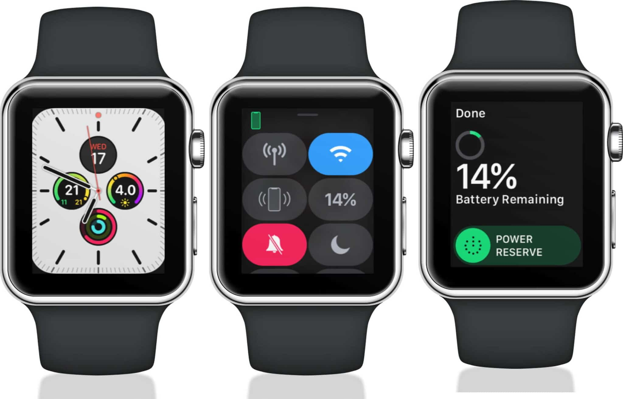 check battery life on apple watch