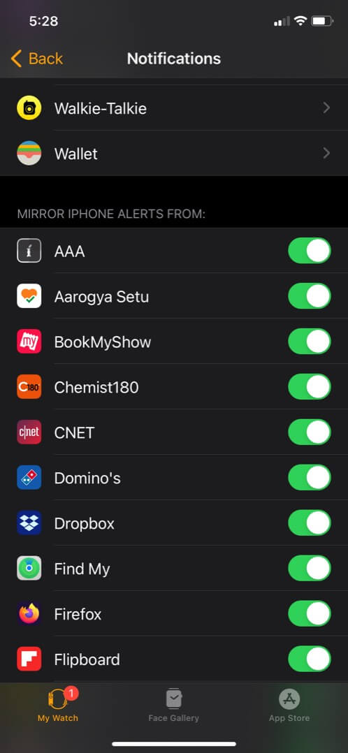 check notifications are enabled for third-party apps on iphone