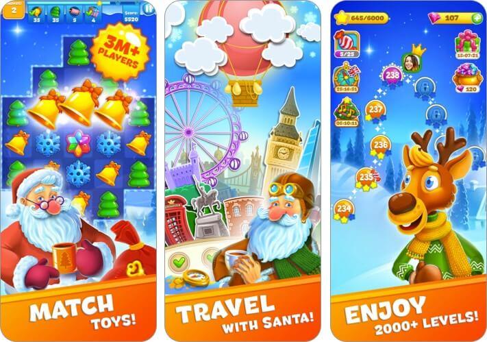 Christmas Sweeper iPhone and iPad Christmas Game Screenshot