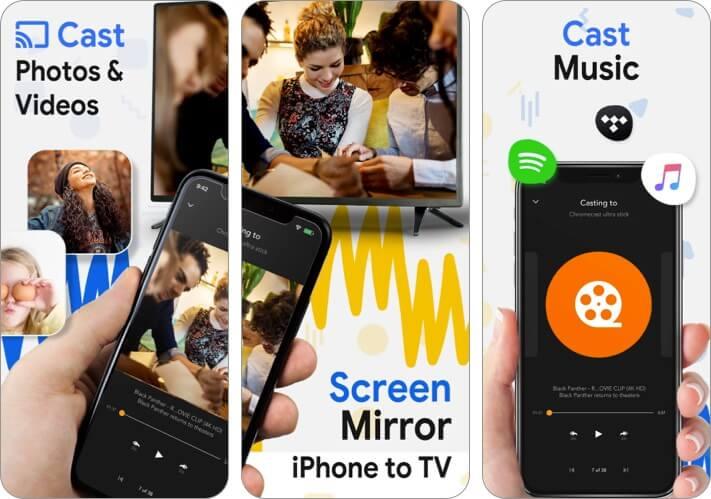 Chromecast Streamer Screen Mirroring iPhone and iPad App Screenshot