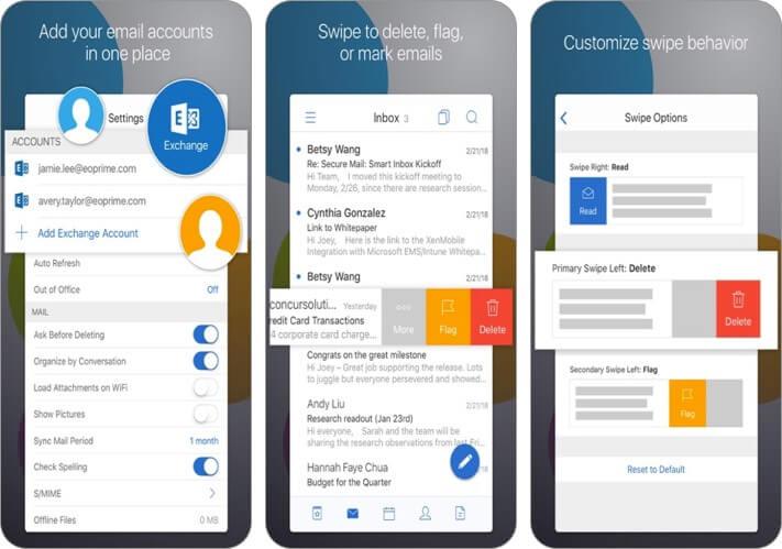 citrix Secure Mail iPhone und iPad E-Mail-App Screenshot