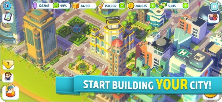 city mania iphone and ipad city building game screenshot