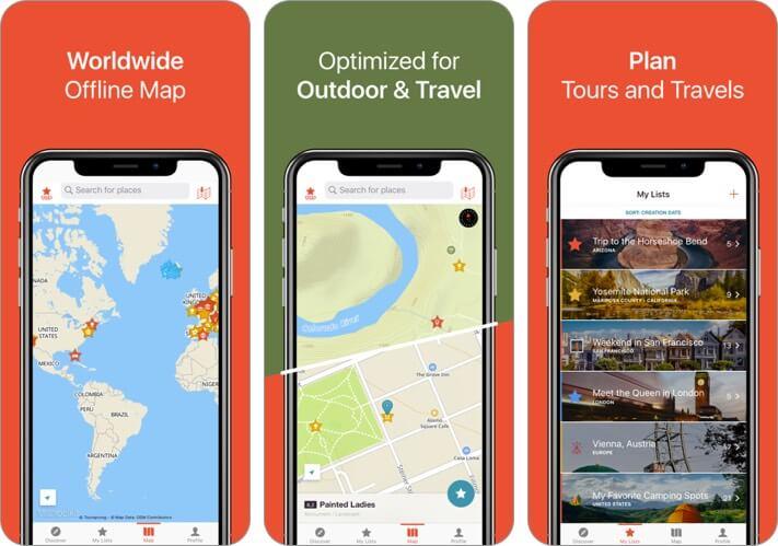 citymaps2go iphone and ipad offline map app screenshot