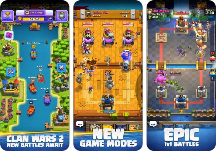 clash royale iphone and ipad tower defense game screenshot