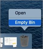 Klicken Sie auf dem Mac auf Papierkorb leeren