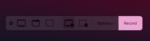 click on record to record entire mac screen