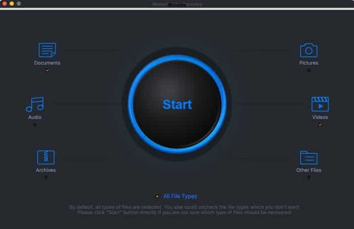 Click on Start in iBeesoft Data Recovery App