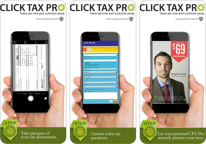 click tax pro iphone and ipad app screenshot