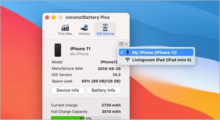 coconutBattery 3 battery health tracker app for Mac