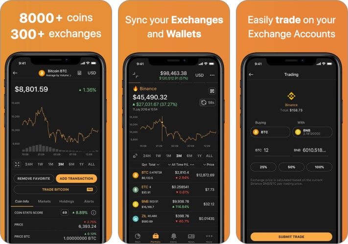 Coin Stats Cryptocurrency iPhone and iPad App Screenshot