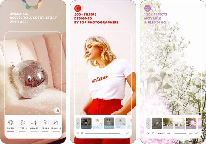 Фильтр Color Story и эффекты приложения для iphone и ipad