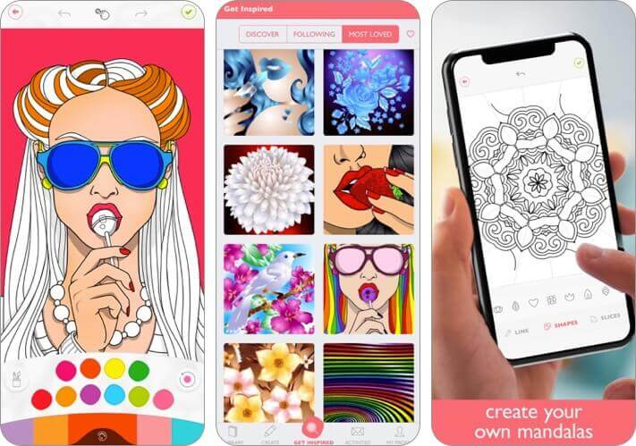 colorfy iphone and ipad stress relieving app