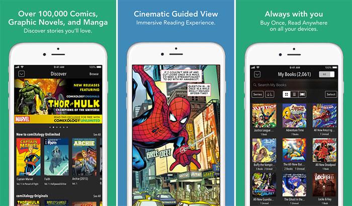 comiXology iPhone and iPad App Screenshot