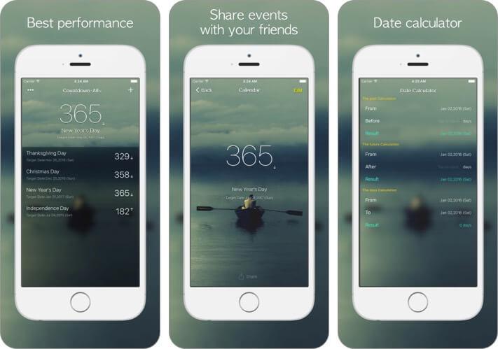 Countdown° iOS App Screenshot