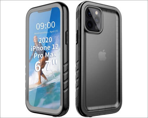 Cozycase Waterproof Case for iPhone 12 Pro Max
