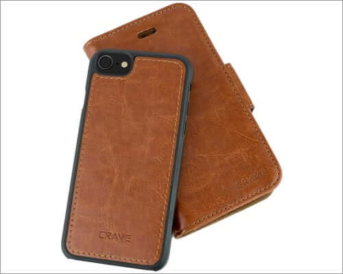 crave vegan leather guard removable case for iphone se 2020