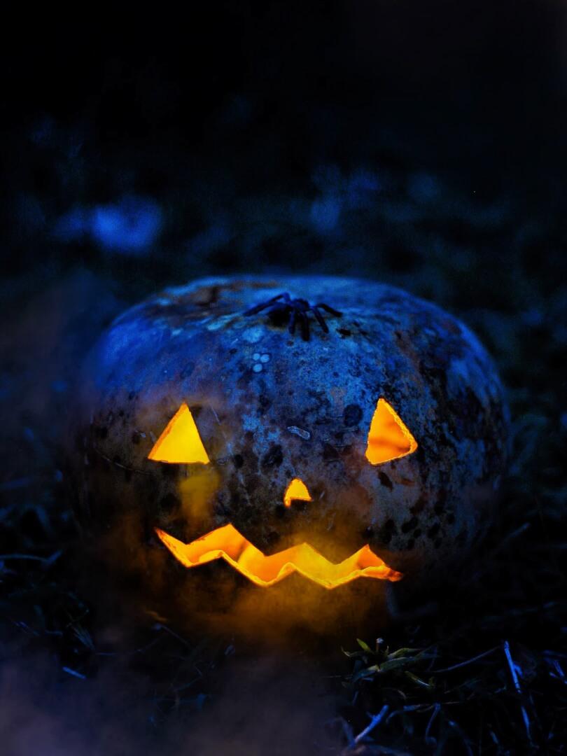 Creepy Pumpkin Halloween Wallpaper for iPhone