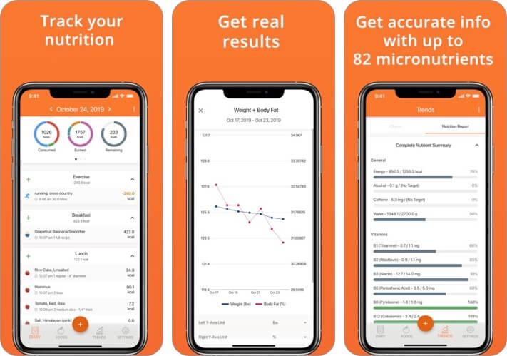 Cron o meter calorie counter iphone app