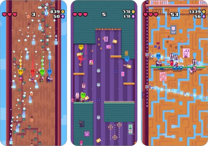 crossy road castle apple arcade game screenshot