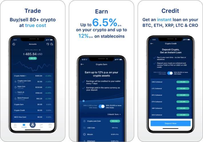 Crypto.com Cryptocurrency iPhone and iPad App Screenshot